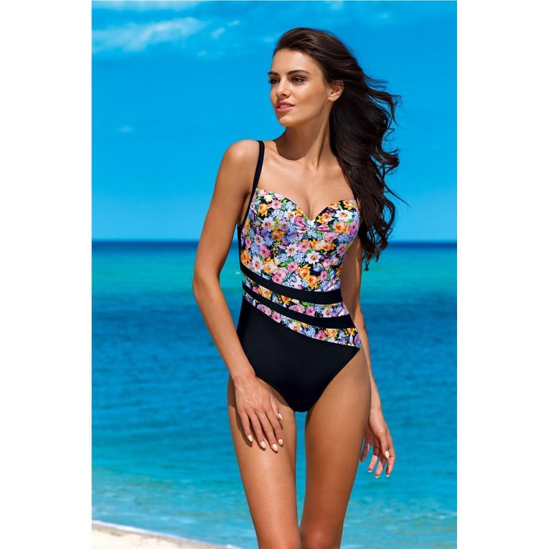 ... plavky Černé dámské jednodílné plavky s květinovým motivem. Předchozí a374317878
