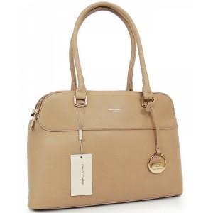 Dámská kabelka do ruky béžové barvy