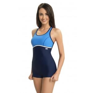 Modré sportovní celé plavky