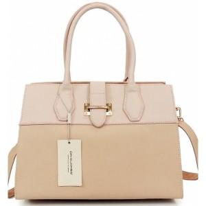 Růžová dámská kabelka do ruky i přes rameno