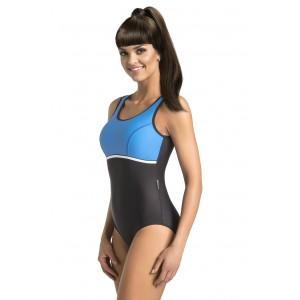 Tmavě modré jednodílné plavky pro dámy