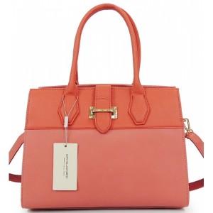 Stylová dámská kabelka s přezkou růžové barvy
