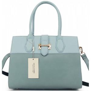 Elegantní modrá kabelka do ruky se zapínáním na zip