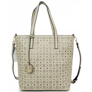 Shopper dámské kabelky v šedé barvě