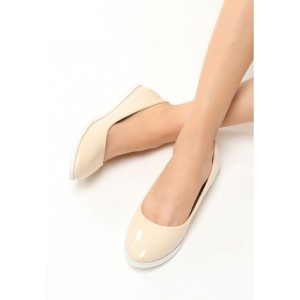 Stylové dámské balerínky béžové barvy