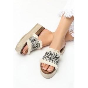 Aztécké béžové nazouváky pro dámy