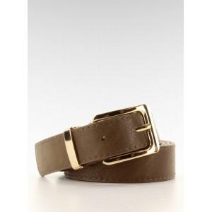 Khaki dámský pásek se zlatou přezkou