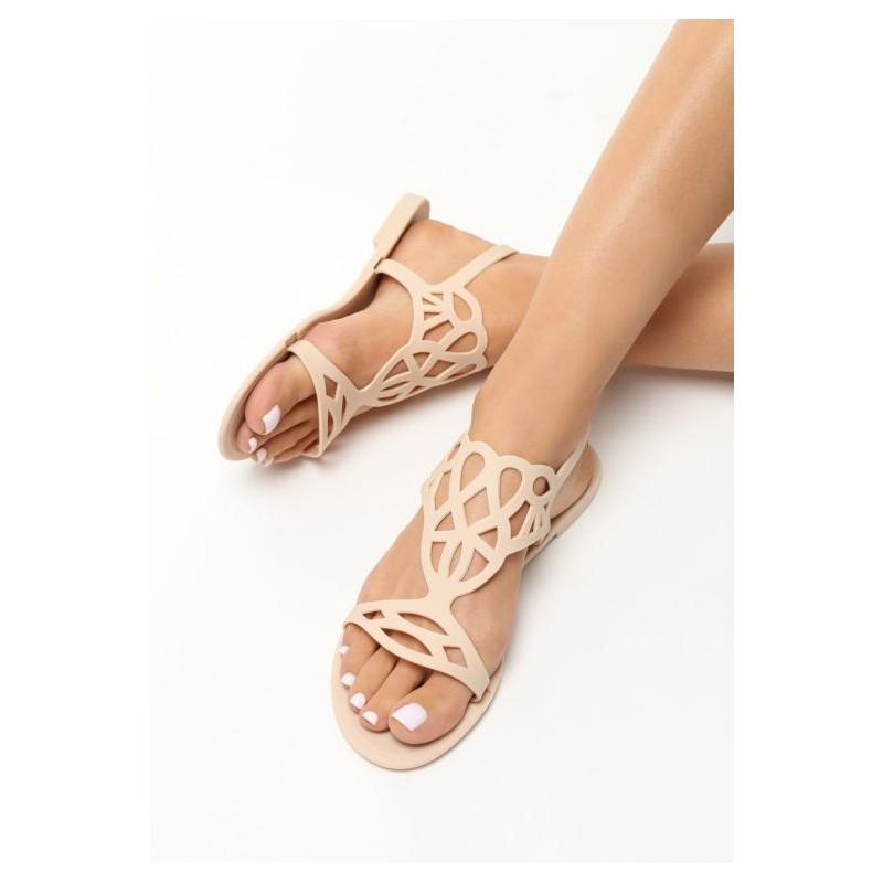 b22bad55f935 DÁMSKÁ OBUV Sandály Nízké Béžové dámské sandály na nízké podrážce. Předchozí