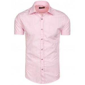 Růžové pánské košile slim fit