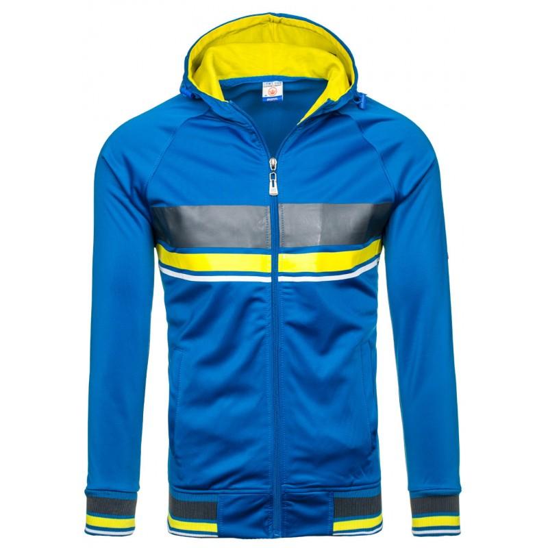 6b46b6fd851 ... kapucí Stylová pánská mikina s kapucí modré barvy. Předchozí