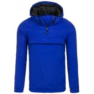 Pánská přechodné bunda modré barvy