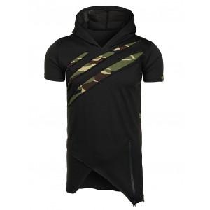 Bavlněné pánské tričko v černé barvě