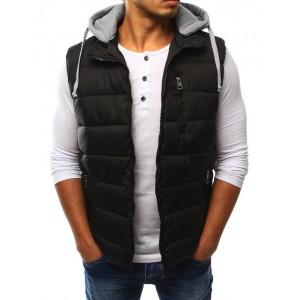 Pánská přechodná vesta černé barvy