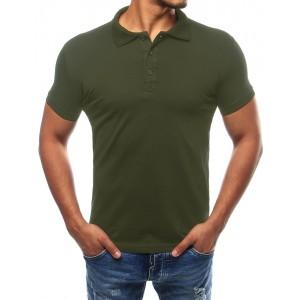 Zelená pánská polokošile s límcem
