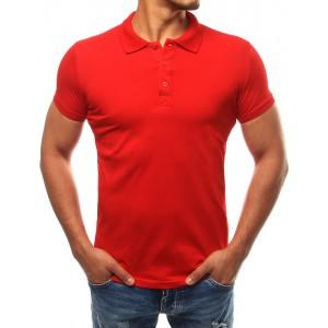 Bavlněné pánské polokošile v červené barvě