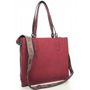 Stylová dámská shopper kabelka červené barvy
