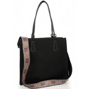 Černá dámská shopper kabelka na rameno