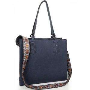 Elegantní shopper kabelka modré barvy