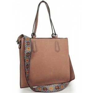 Růžová shopper kabelka pro dámy