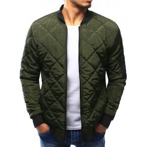 Zelená přechodná bunda pro pány
