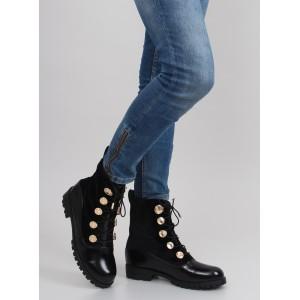 Černé dámské vysoké worker boty