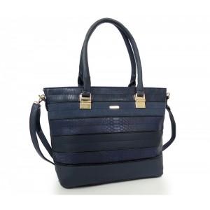 Modrá elegantní kabelka pro každou dámu