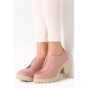 Růžová dámská obuv na podzim