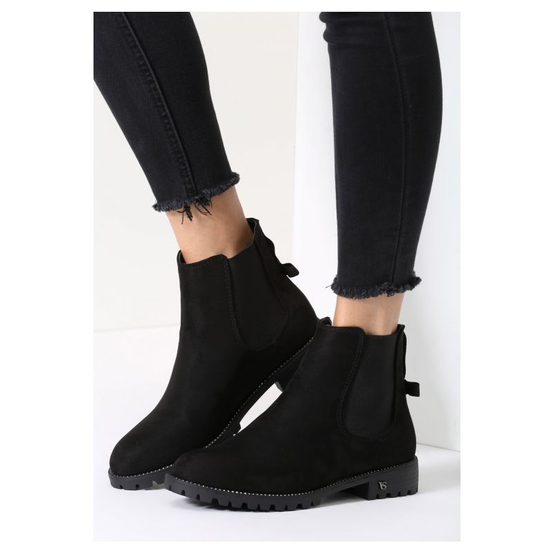 3267044654de ... obuv Černé dámské zimní boty na nízkém podpatku. Předchozí