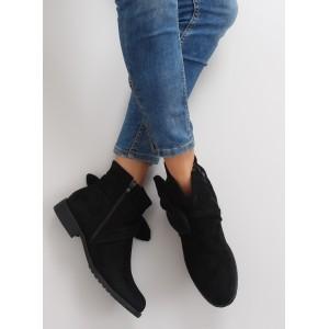 Elegantní dámské kotníkové boty v černé barvě