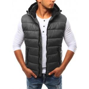 Přechodné vesty šedé barvy pro muže
