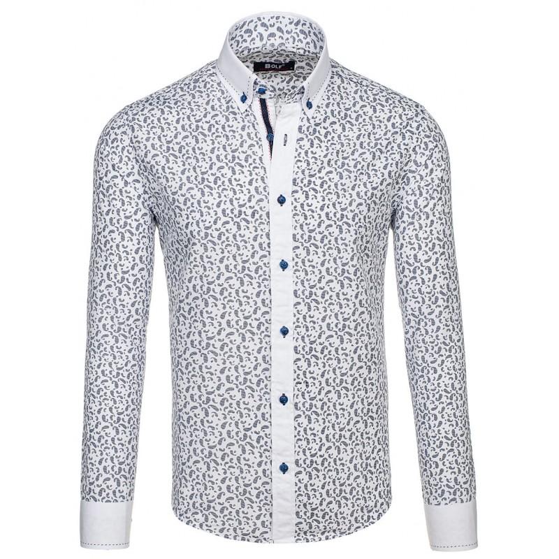 ... rukávem Elegantní pánská košile s tmavě modrým vzorem. Předchozí defc628f61