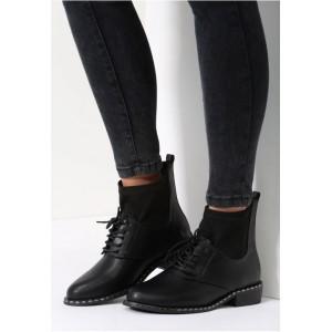 Kotníkové dámské přechodné boty černé barvy