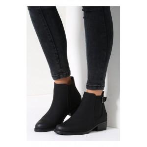 Černé matné dámské boty