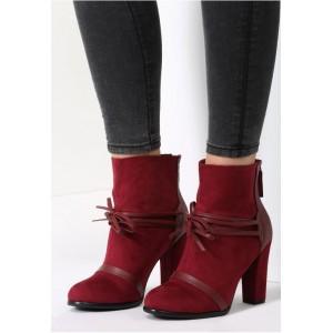 Bordó dámská obuv s vysokým podpatkem