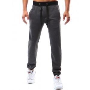 Sportovní pánské tepláky v tmavě šedé barvě