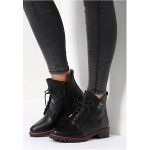 Černá dámská zimní obuv na zip