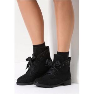 Dámské černé kotníkové boty v černé barvě
