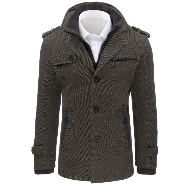 Elegantní pánský kabát šedé barvy - manozo.cz e827c0d9712