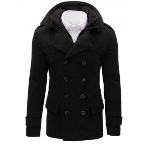 Zimní pánský kabát černé barvy