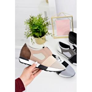 Sportovní dámská obuv v béžové barvě