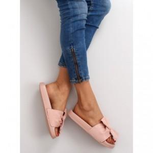 VELIKOST 39 Růžové dámské pantofle s otevřenou špičkou a patou