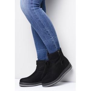 Dámská zimní obuv černé barvy