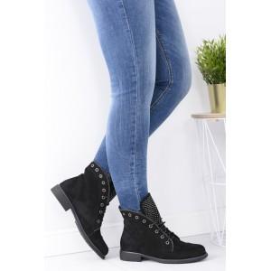 Dámská kotníčková obuv černé barvy