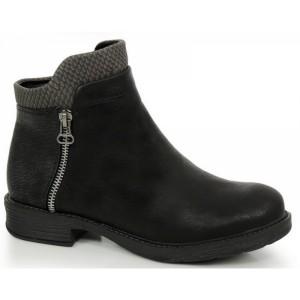 Elegantní dámské černé boty na zimu