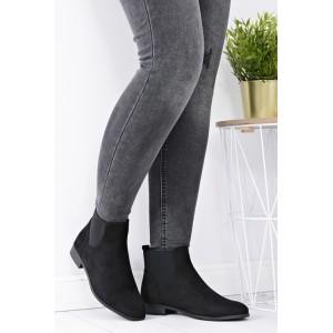 Černé semišové dámské boty na zimu