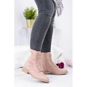 Růžová dámská kotníková obuv