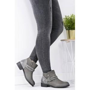 Dámská kotníková obuv šedé barvy