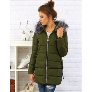 Zelená dámská zimní bunda