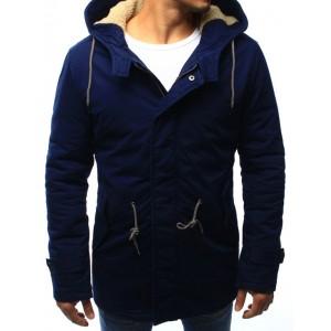 Tmavě modrá pánská zimní bunda