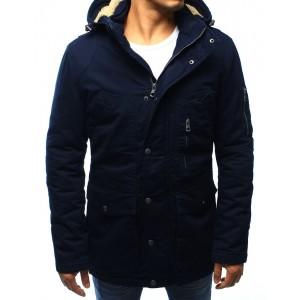 Tmavě modrá pánská zateplená bunda